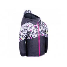 Unuo - Dětská softshellová bunda s fleecem Street, Žíhaná Antracitová, Metricon holka