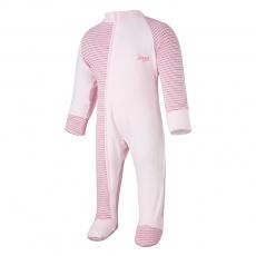 Little Angel-Overal tenký DR Outlast® - pruh růžovobordový/růžová baby Velikost: 80