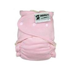 Anavy-Jednovelikostní kalhotková plenka Růžový (bavlněný velur)