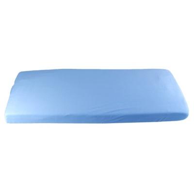 KAARSGAREN-Modré prostěradlo bio-bavlna 70 x 160 cm