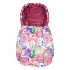 Little Angel-Autofusak tisk 5ti bod MAZLÍK Outlast® - růžová kytky/starorůžová