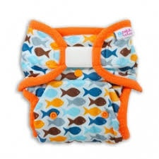 Petit Lulu-Svrchní kalhotky novorozenecké-Rybky