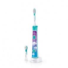 PHILIPS Sonický elektrický zubní kartáček dětský s bluetooth zelený