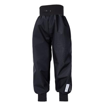 Little Angel-Kalhoty softshell tenké náplet - černá Velikost: 98