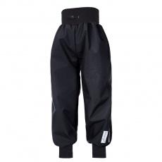 Little Angel-Kalhoty softshell tenké náplet - černá Velikost: 128