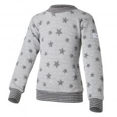Little Angel-Mikina hvězdičky lem - šedý melír hvězdičky Velikost: 122