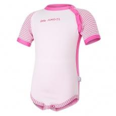 Little Angel-Body tenké KR LA Outlast® - tm.růžová/růžová baby Velikost: 74