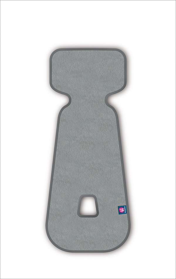 Petite&Mars Vložka do autosedačky 3D Aero sv.šedá 9-18 kg Petite&Mars