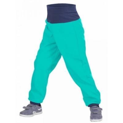 UNUO-Batolecí softshellové kalhoty s fleecem smaragdová