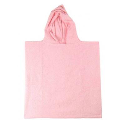 KAARSGAREN-Froté pončo růžové