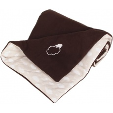 KAARSGAREN-Zateplená dětská deka hnědá obláčky