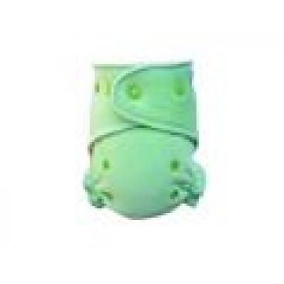 Breberky-Kalhotková plenka-Světle zelená PAT, limetkové patentky (kojenecký plyš)