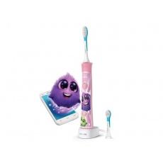 PHILIPS Sonický elektrický zubní kartáček dětský s bluetooth růžový