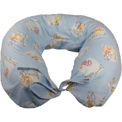 KAARSGAREN-Kojící polštař flanelový modrý miminka