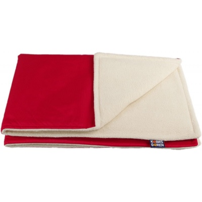 KAARSGAREN-Červená zimní deka biobavlna beránek