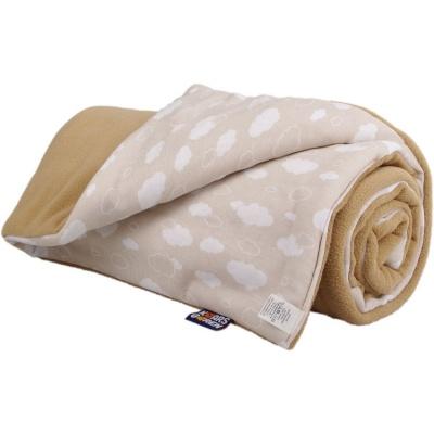 KAARSGAREN-Zateplená dětská deka béžové mráčky