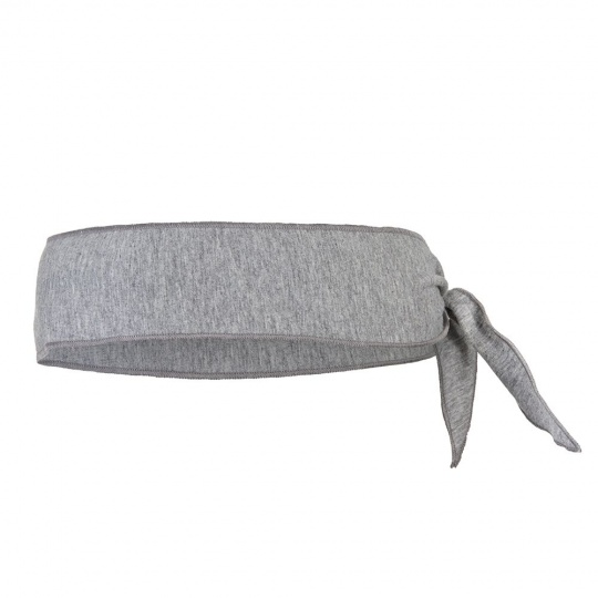 Little Angel-Čelenka tenká zavazovací Outlast ® - šedý melír Velikost: 5 | 49-53 cm
