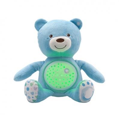 CHICCO Hračka medvídek s projektorem - modrá 0m+