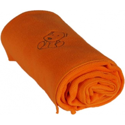 KAARSGAREN-Dětská flísová deka s pejskem oranžová
