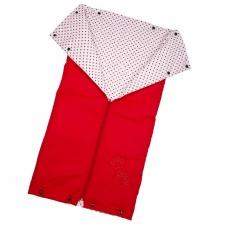 Little Angel-Autofusak ŤAPKA tenký - červená/červený puntík