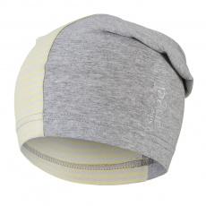 Little Angel-Čepice tenká dlouhá Reflex Outlast® - šedý melír/pruh citronový Velikost: 5   49-53 cm