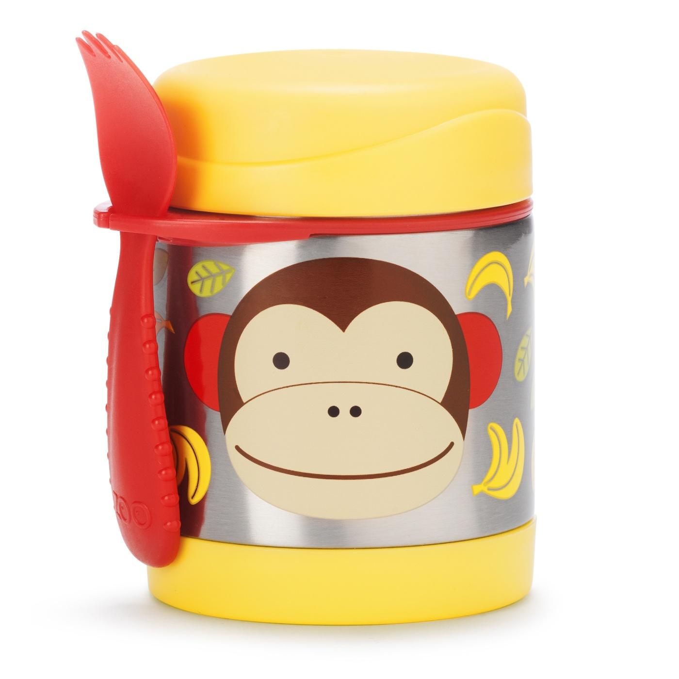 Skip Hop Zoo Termoska na jídlo s vidličkou - Opička 12m+