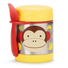 SKIP HOP Zoo Termoska na jídlo se lžičko-vidličkou Opička 325 ml, 12 m+