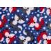 KAARSGAREN-Deka Flanel fleece modrá liška 100x150cm