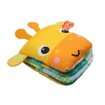 Bright Starts Knížka látková/loutka Playful Storytime žirafa 0m+
