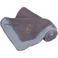KAARSGAREN-Dětská deka šedo modrá s pejskem fleece bavlna