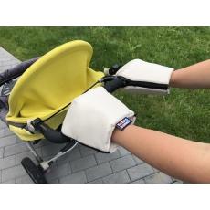 KAARSGAREN-Béžové rukavice na kočárek biobavlna