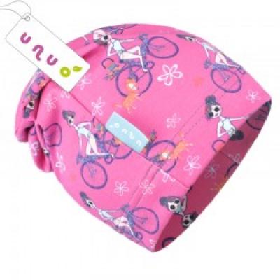 UNUO-Nákrčník UNI Slečna na kole růžová
