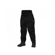 Unuo - Batolecí softshellové kalhoty s fleecem Street, Černá