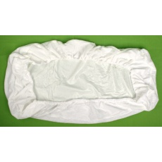 KAARSGAREN-Nepropustné prostěradlo 140x200cm bílé froté bavlna
