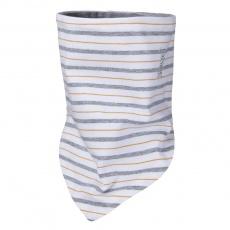 Little Angel-Šátek tenký oboustranný Outlast® - pruh bíložlutošedý/šedý melír