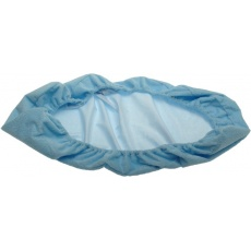 KAARSGAREN-Nepropustné prostěradlo 90x200cm modré froté bavlna