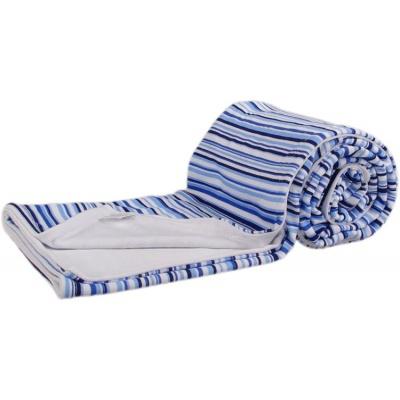 KAARSGAREN-Oboustranná bambusová deka modré proužky