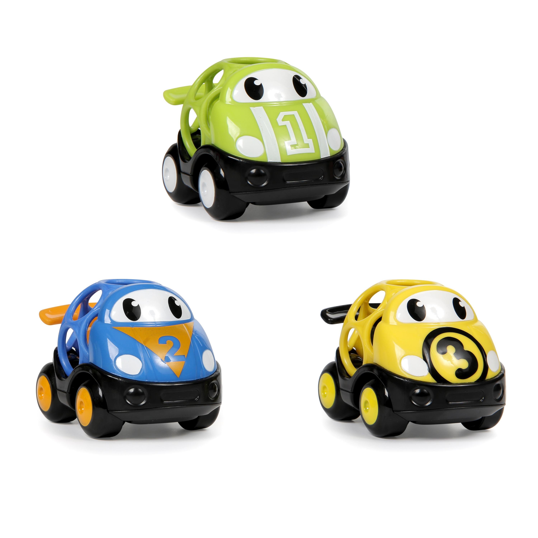 Oball Hračka autíčko závodní Herbie, Tom a Mike Oball Go Grippers 18m+,3ks