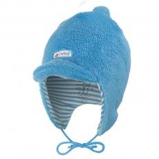 Little Angel-Kšiltovka MAZLÍK Outlast® - azurově modrá/pruh azurový Velikost: 0 | 33-35 cm