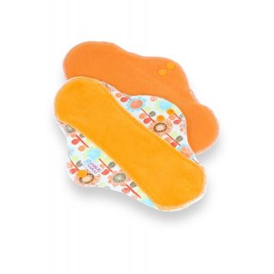 Petit Lulu–Květinová louka (oranžová) látková vložka ULTRA (fleece)-1 ks