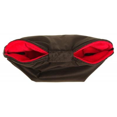 KAARSGAREN-Nový rukávník na kočárek černo červený