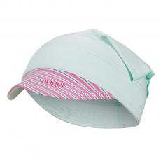 Little Angel-Šátek tenký kšilt Outlast® - sv.zelená/pruh růžovozelený Velikost: 5, 49-53 cm