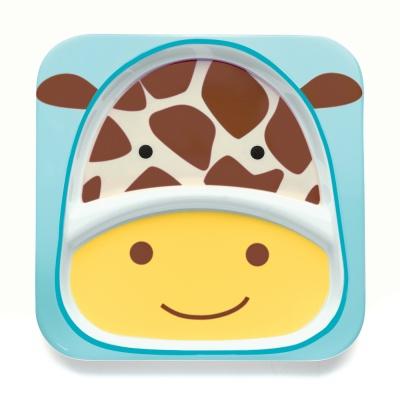 Skip Hop Zoo Talířek 2v1 - Žirafa 6m+
