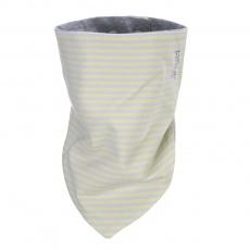 Little Angel-Šátek tenký oboustranný Outlast® - pruh citronový/šedý melír Velikost: uni