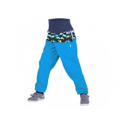 UNUO-Batolecí softshellové kalhoty s fleecem AUTÍČKA TYRKYSOVÉ