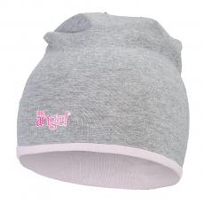 Little Angel-Čepice podšitá Outlast® - šedý melír/růžová baby Velikost: 1   36-38 cm