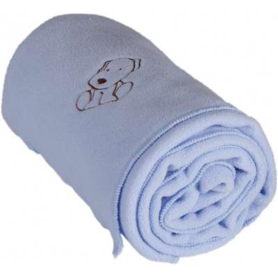 KAARSGAREN-Dětská flísová deka s pejskem modrá
