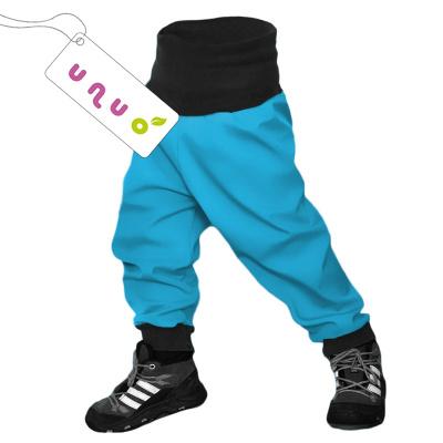 UNUO-Batolecí softshellové kalhoty s fleecem tyrkysové-vel. 74/80
