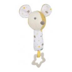 CANPOL BABIES Činka hebká pískací s kousátkem Mouse