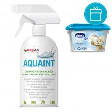 CHICCO Kapsle prací gelové Sensitive, 16 ks + AQUAINT 500 ml
